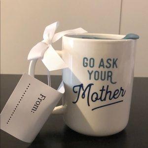 Threshold Kitchen - Threshold stoneware coffee mug w/lid go ask your